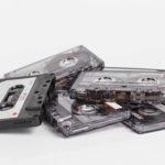 gros plan de cassettes audio